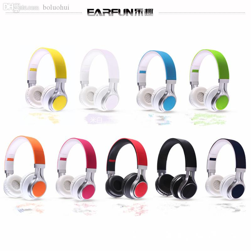 Wholesale-Wired Mobile Phone Headphones Stereo Foldable Headset Earphone 3.5MM Head Phone for  Game Computer PC Fast&Free Shipping