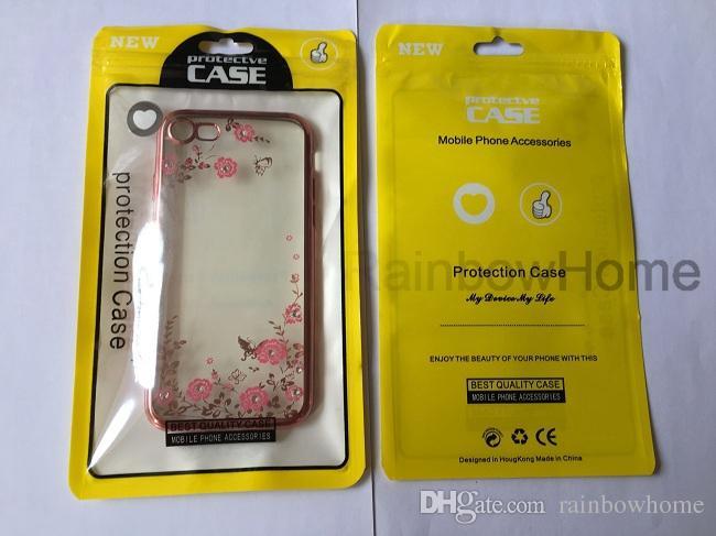 zip zipper sacchetto di plastica al minuto della scatola della serratura Pacchetto Sacchetto di OPP Case Cover iPhone XS Max XR 8 Inoltre Samsung S8 S9 del cuoio del telefono