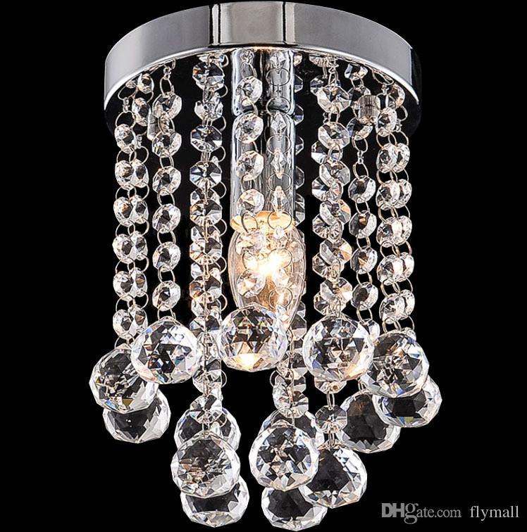 15/20/25 cm Lampadario di cristallo Lampadario Mini Lampada da soffitto Lampada trasparente piccola lucentezza di cristallo corridoio Corridoio Corridoio Corridoio Luce del portico