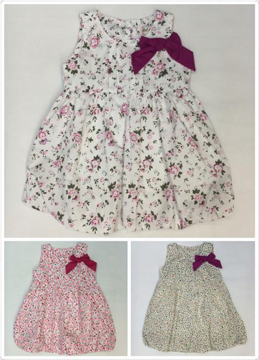 Newest Baby Dresses Children Printed Flower Dress Cheap Price The Little Baby  Girls Cute Dress Girls England Style Skirt Outside Clothes UK 2019 From ... 81d57ccd81db