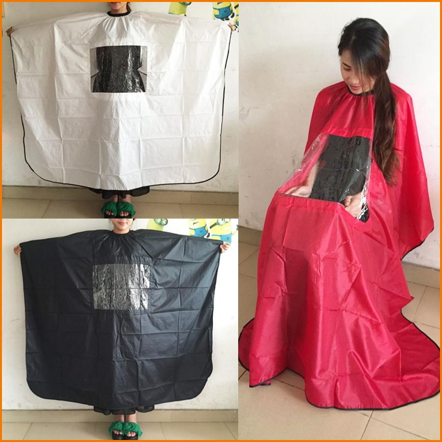 Salon Adult Hair Cutting Hairdressing Cloth Barbers Hairdresser Cape Gown Wrap, Black Red White, Big Size 145*165cm