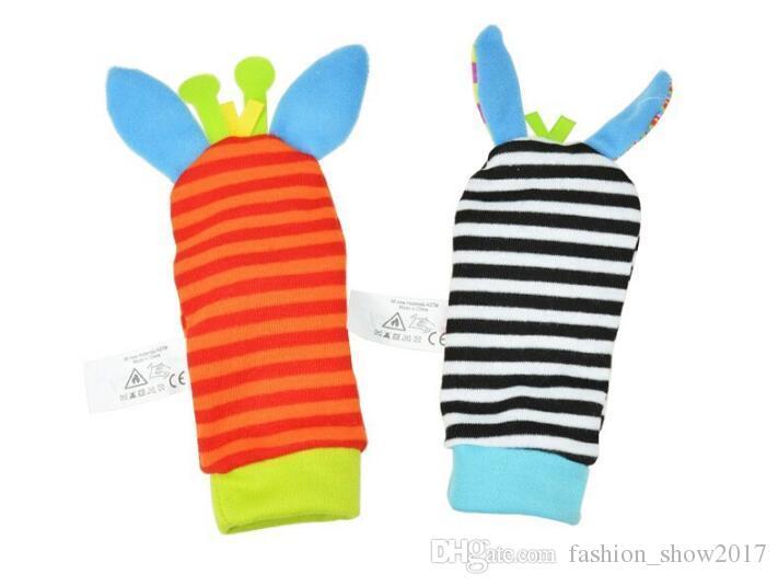 쏘지 뜨거운 아기 장난감 양말 아기 장난감 선물 봉제 가든 버그 손목 래트 3 스타일 교육 완구 귀여운 밝은 색상