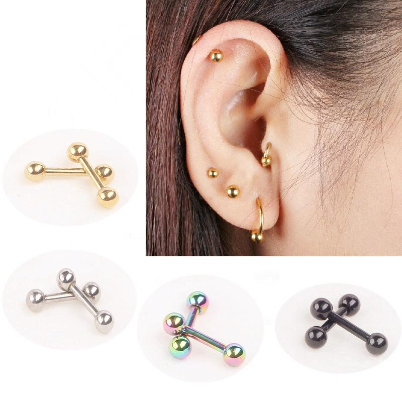 Online Cheap Ear Nail Bone Barbell Earring Piercing Helix ...