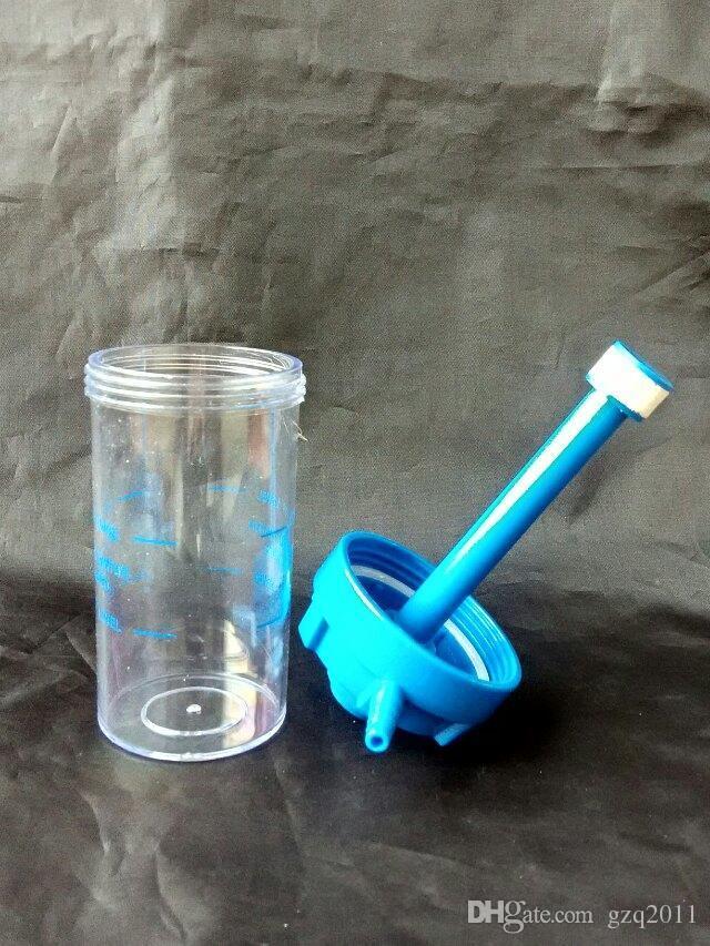 Oksijen şişesi Akrilik Nargile - cam nargile sigara boru Cam gong - petrol kuleleri cam bongs cam nargile sigara borusu - vap buharlaştırıcı