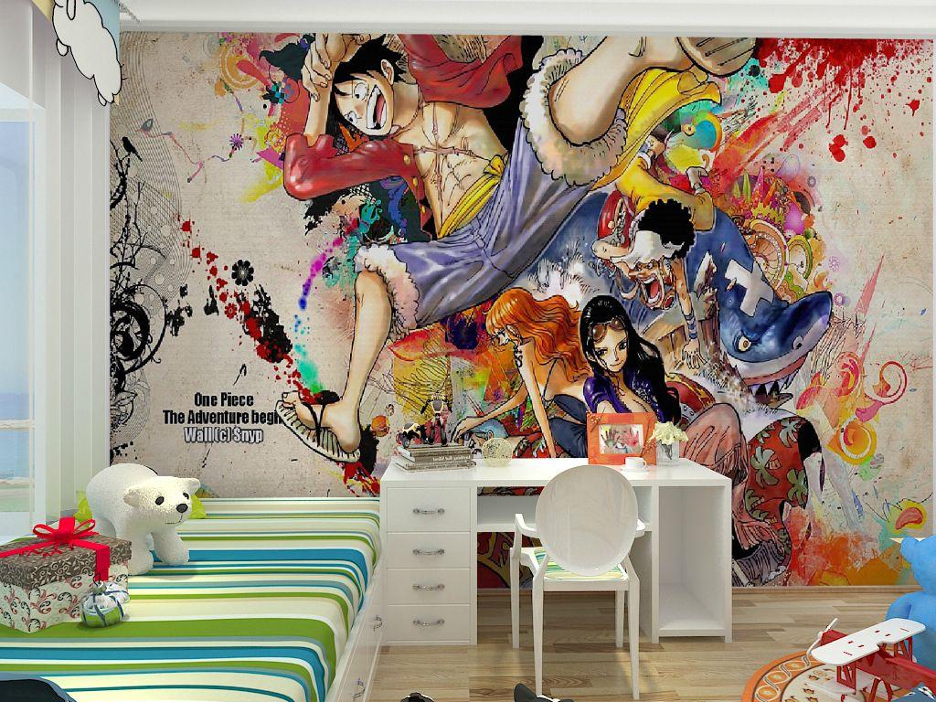 modern children s room wallpaper non woven cartoon character boy see larger image