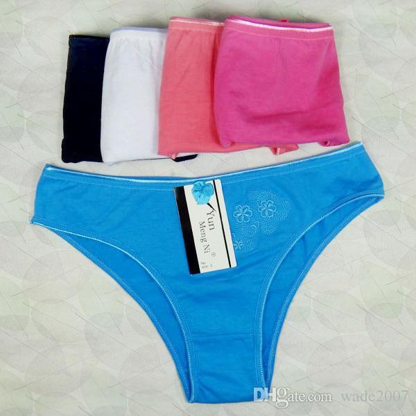 Vendita calda 5 pz / lotto delle nuove donne 100% mutandine di cotone ragazza Slip signora ricamato biancheria intima bikini bikini mutandine da donna modelli 86583