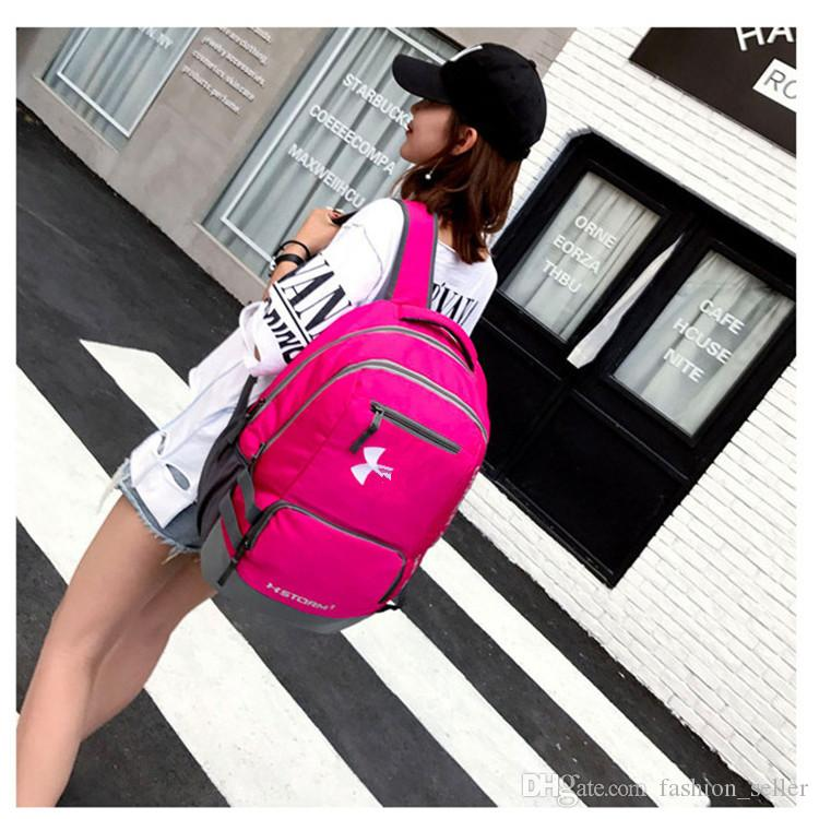 Teenager School Bag Men   Women s Backpack Casual Hiking Camping ... e2299c025ee66