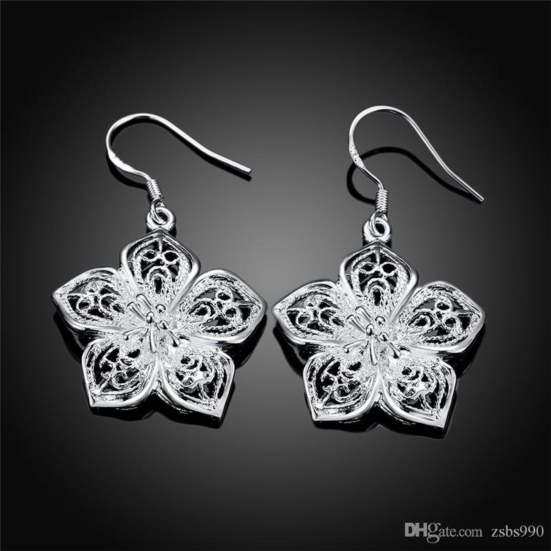 Style mixte 925 argent sterling goutte boucles d'oreilles mode bijoux pour femmes livraison gratuite beau cadeau de mariage de qualité supérieure