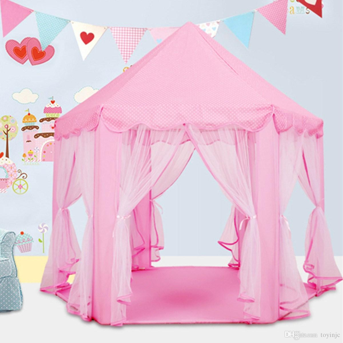 Lovely Girls Pink Princess Castle Cute Playhouse Children Kids Play Tent Outdoor Toys Tent For Children Kids Gift Online with $64.0/Piece on Toyinjcu0027s Store ...  sc 1 st  DHgate.com & Lovely Girls Pink Princess Castle Cute Playhouse Children Kids ...