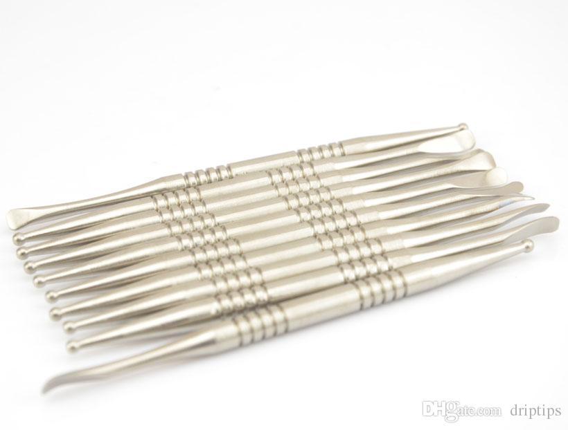 110 mm de long Grade 2 Titanium dabber Domeless Titanium Nail outil de fumage outil dabber herbe sèche Vaporisateur Free DHL