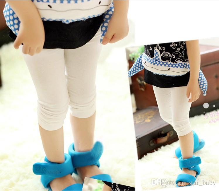 Korean Spring Summer Autumn Girls Cotton Leggings for Dress Cropped Trousers Children Girls Clothes K8026