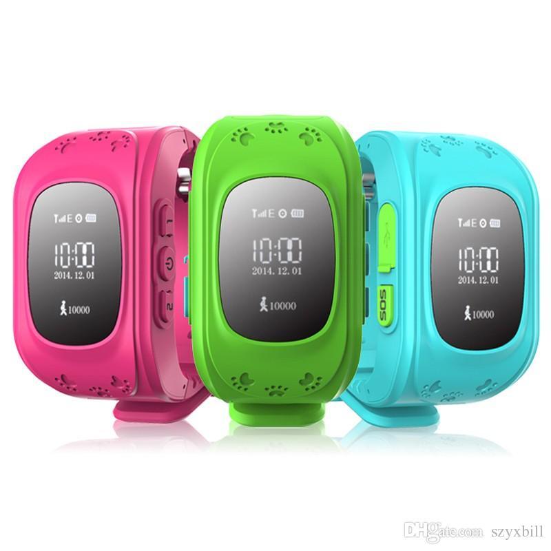 677f2d8911e6 Smartwatch DHL Ship Q50 GPS Inteligente Kid Safe Reloj Inteligente  Localizador Rastreador Para Niño Anti Lost Reloj De Pulsera De Sonido Del  Bebé Relojes ...