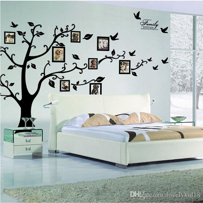 Large Size Black Family Photo Frames Tree Wall Stickers Home Decoration Wall  Decals Modern Art Murals For Living Room Ws204 Letter Wall Decals Letter  Wall ... Part 59