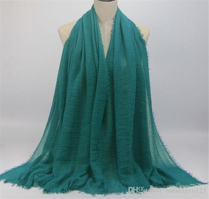 multicolor fashion cheapest scarves 95*180CM Long Female Scarves cotton linen scarf jersey shawl muslim hijab R058