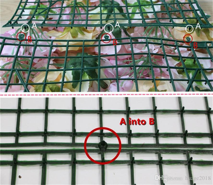 Ems-freies Verschiffen / alle purpurrote Dahlie Rosen-Blumenwandhochzeits-Hintergrundrasen / Pfostenblumenheimmarktdekoration