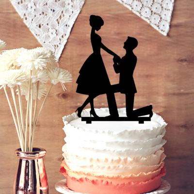Cake toppers wedding decorations groom kneel to the bride by asking cake toppers wedding decorations groom kneel to the bride by asking to marry him silhouette wedding cake topper country wedding decoration ideas do it solutioingenieria Image collections