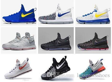 285291a3b865 2019 2016 Hot Sale KD 9 Mens Basketball Shoes KD9 Oreo Grey Wolf Kevin  Durant 9s Men S Training Sports Sneakers Warriors Home US Size 7 12 From ...