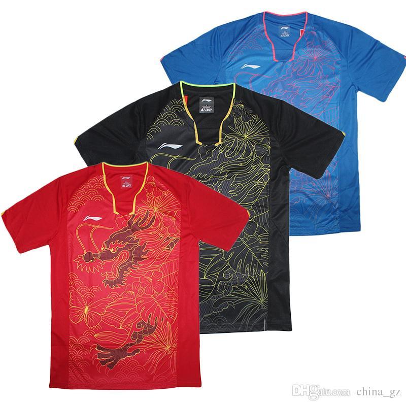 42281a00f1 Compre Rio 2016 Li Ning Camisa De Tênis De Mesa Dos Homens