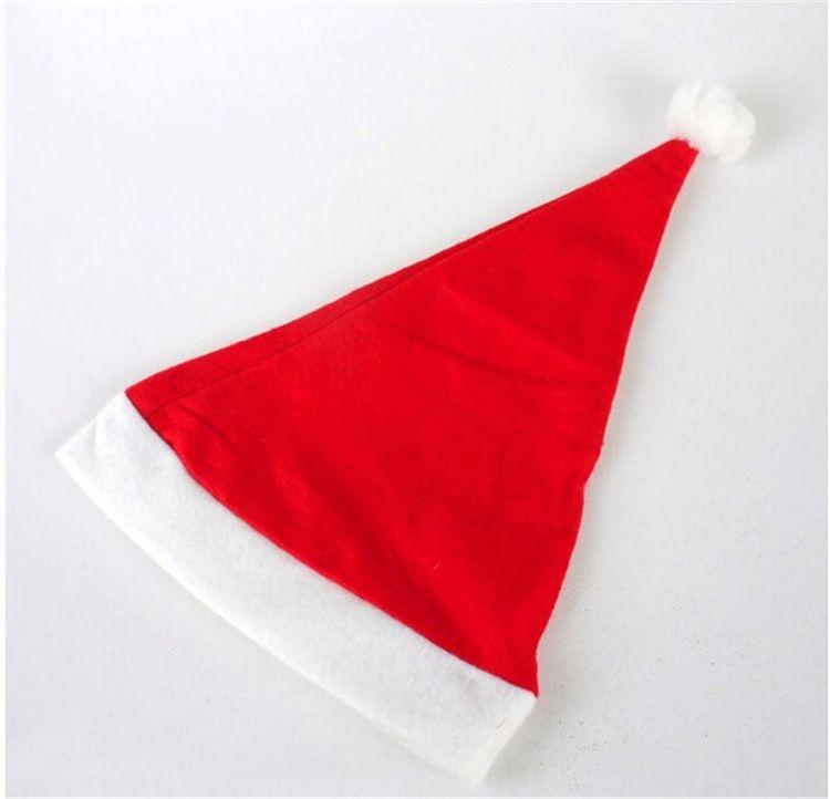Natal Papai Noel Chapéus Vermelho E Branco Cap Chapéus Do Partido Para O Papai Noel Traje Decoração de Natal para crianças adulto Chapéu de natal