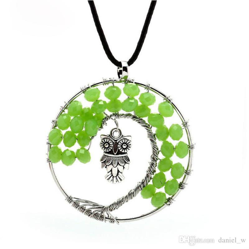 Wholesale vintage owl pendant necklace green gem charm crystal wholesale vintage owl pendant necklace green gem charm crystal necklaces tree of life ancient owl sweater chain jewelry for deals sale necklace charm aloadofball Gallery