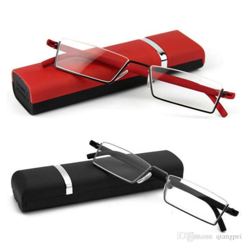 b9ef7cf544d Unisex Fashionable TR90 Reading Glasses Women Men Ultralight Resin Lenses  Elderly Watch Folding Presbyopic Eyeglasses Diopter Compact Reading Glasses  With ...