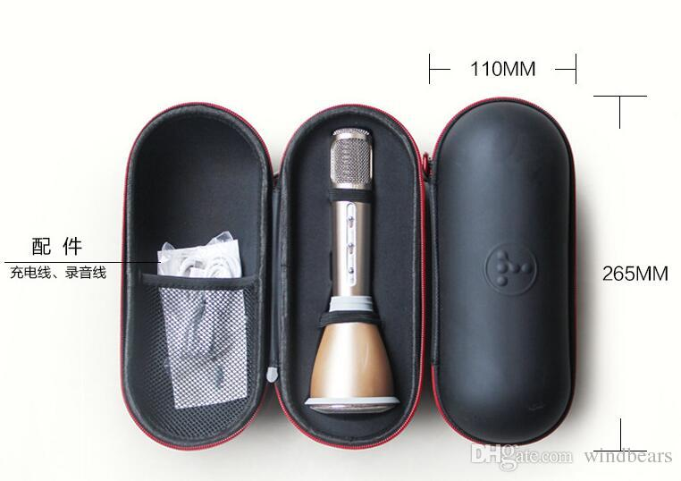 K068 wireless Bluetooth microphone K song handheld KTV magic speaker nice sound Karaoke player for cell phone conference stage