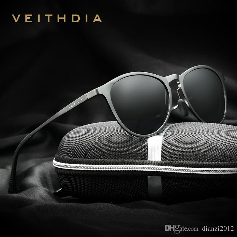 3683417df4 New Arrival Unisex Retro Aluminum Magnesium Brand Sunglasses Men ...
