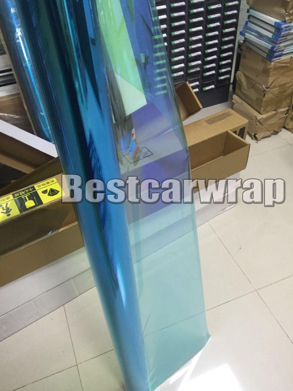 Blue High-performance Chameleon Window Tint Film Car Film PET Window Tints For Auto Window Graphics VLT 60% SIZE 1.52X30M