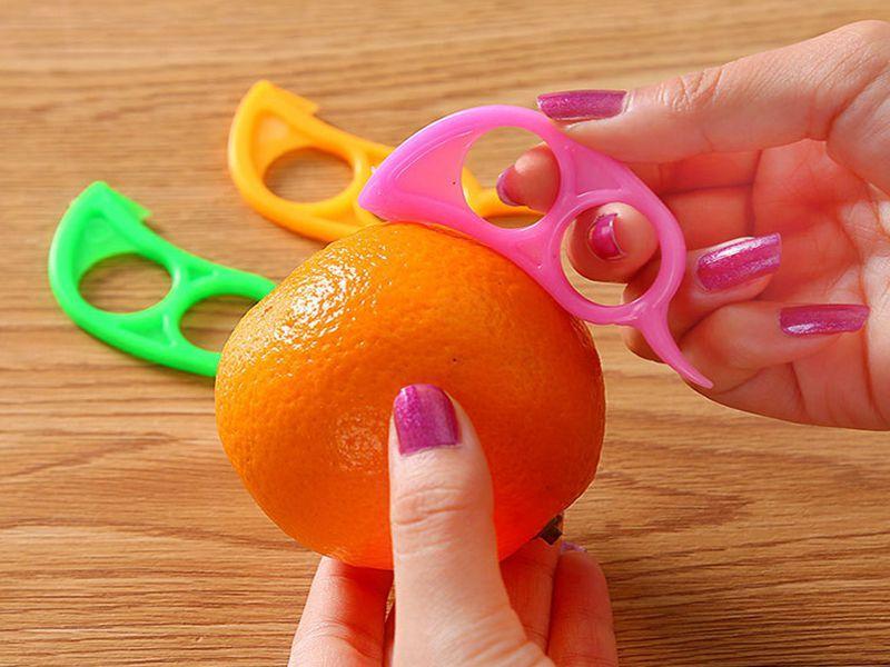 / Livraison gratuite Forme de souris Ouvert Orange Peel Orange Device Gadgets De Cuisine Outils de Cuisine Peeler Parer Finger Type