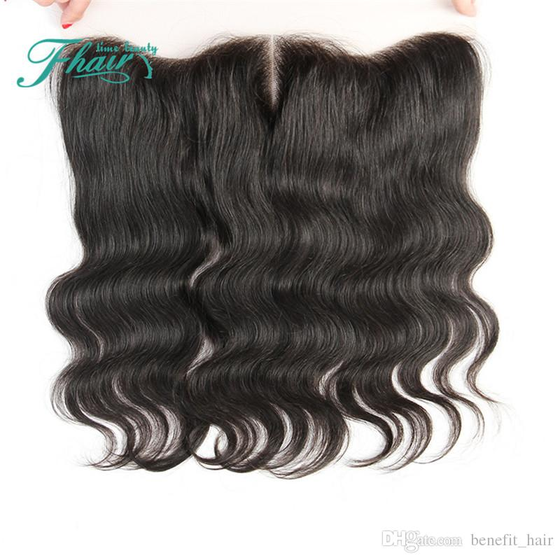 """Hot Selling 8A Lace Frontal Closure 13x4 Brazilian Hair Closure Natural Black Full Body Wave Lace Frontal Closure 8""""-24""""Inch Length Hair"""