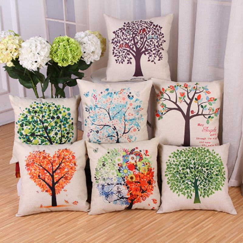 Office Pillow Case Decoration Home Decor Sofa Pillowcases Tree Inspiration Decorating Pillow Cases