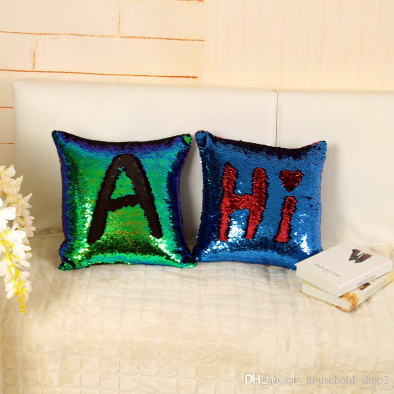 Sequin Mermaid Pillow case 40*40cm Cushion Cover Home Decoration Sofa Bed Decor Decorative Pillowcase