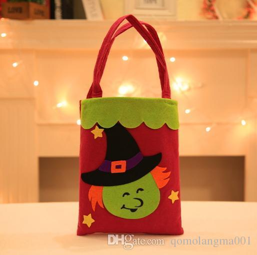 Halloween Torba Torebka Cukierki Prezenta Portable Drukowana Bag Dla Dzieci Traktujące Lub Sztuczka Party Favors Sack Festival Decoration Drukowanie