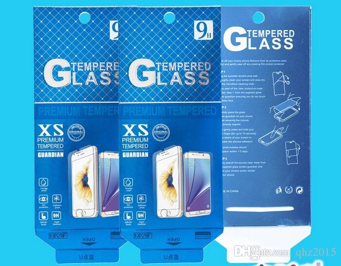 180 * 88mm Gold Color Universal Paquete de venta al por menor Caja de embalaje de papel para teléfono móvil Protector de pantalla de vidrio templado /