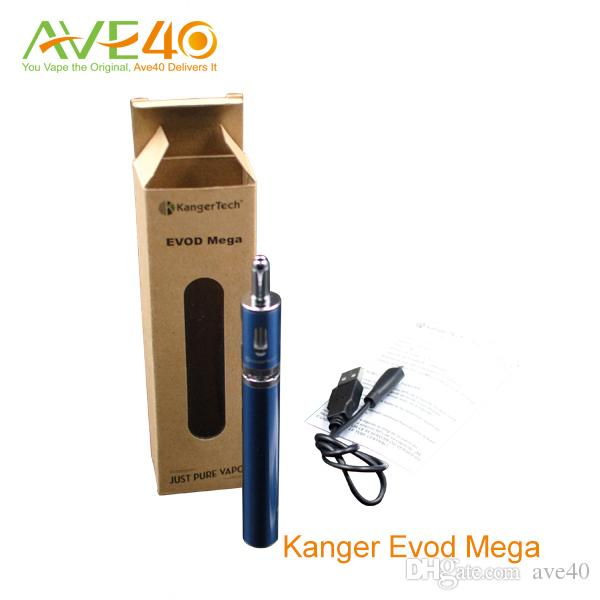 Kanger Evod Mega kit E сигареты Evod Mega Starter Kit 1900 мАч аккумулятор и 2,5 мл распылитель танки новый Delta2