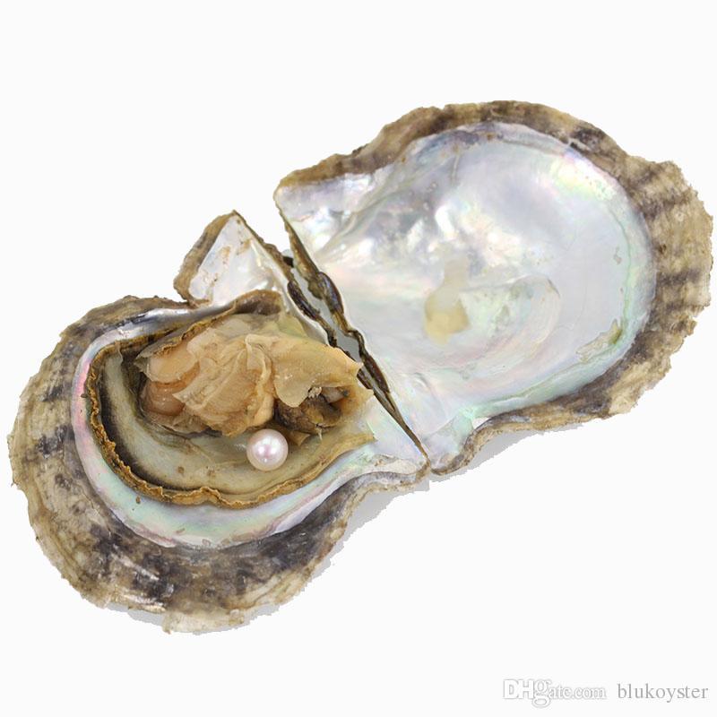 Agua salada redonda Akoya perla de la ostra es se mezclaron los colores 6-8 mm de perlas cultivadas de Oyster envío libre del embalaje al vacío ZZ007