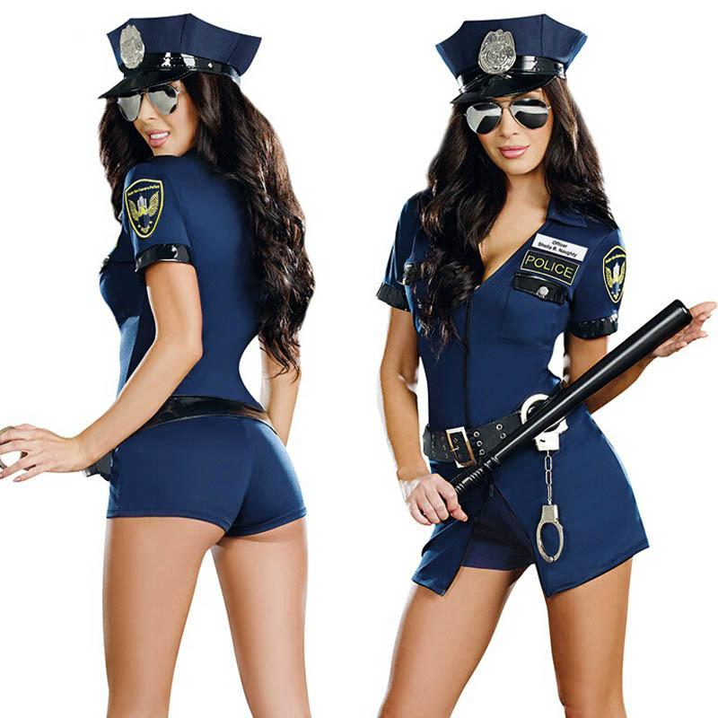 police Sexy costumes hallowen of for