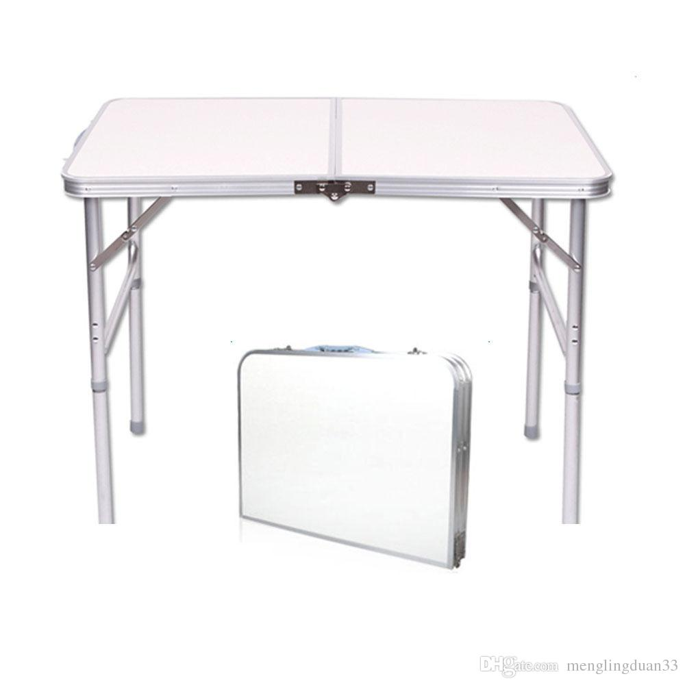 New 4ft Adjustable Heigt Outdoor Portable Aluminum Camping Picnic Folding Table Camping Picnic Folding Table New 4 Ft Ad Online With 35 42 Piece On