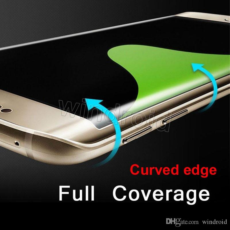 0.2MM Note 7 S7 Edge s6 edge plus 3D curve Screen Protector Tempered glass Full Cover Curved Glass 9H Hardness + Retail box Cheapest