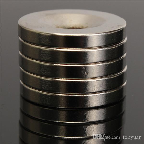 5 stücke N50 20x3mm Starke Runde Senkring Ringmagnete 5mm Loch Rare Earth Neodym-magnet