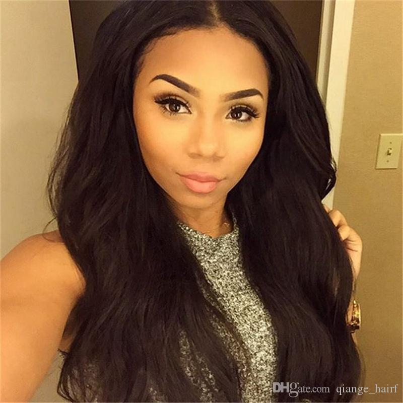 Free Shipping Brazilian 100% Real Human Hair Natural Wave Full Lace Wig / Lace Front Wig 130%-180% Density in stock