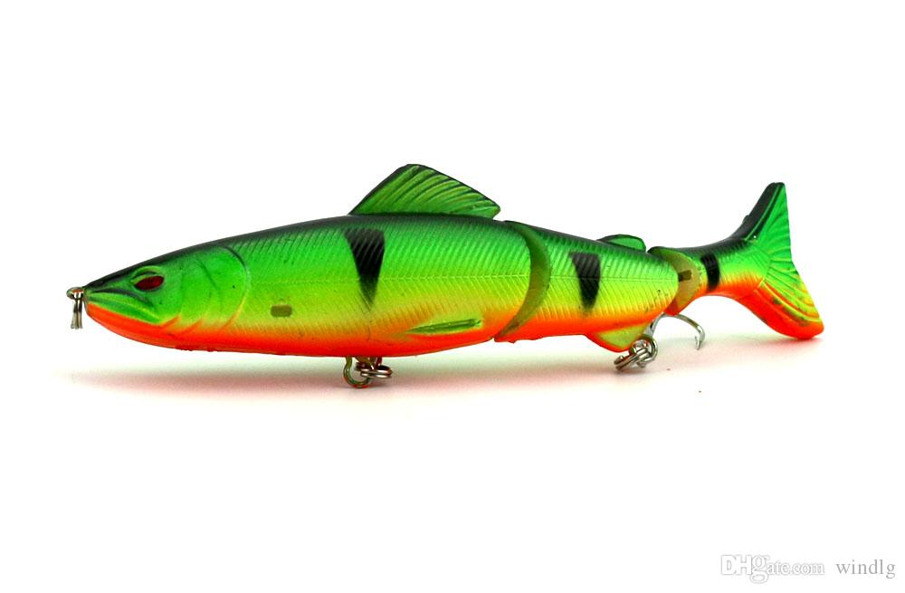 Hengjia wholesaler Jointed link lures Deep sea Minnow Rap spinner Plastic bait Section Three fish 12.5CM/17.7G JM009
