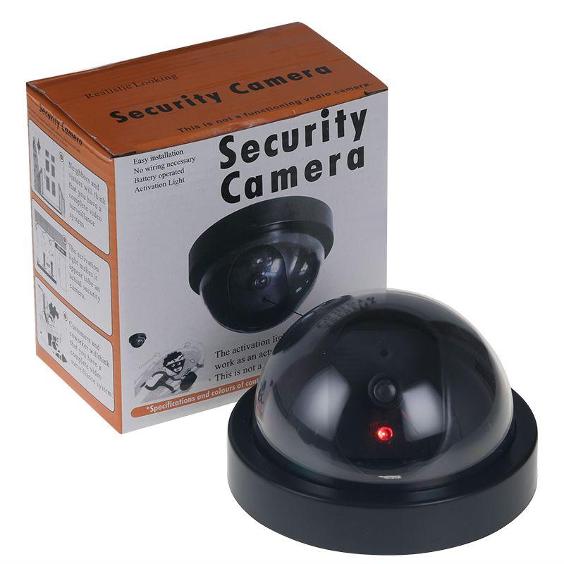 Wholesale-2017 Ev Güvenlik Sahte Simüle video Gözetim kapalı Açık Kukla Led Dome Kamera Sinyal Jeneratörü Elektrik Sıcak 66 YENI