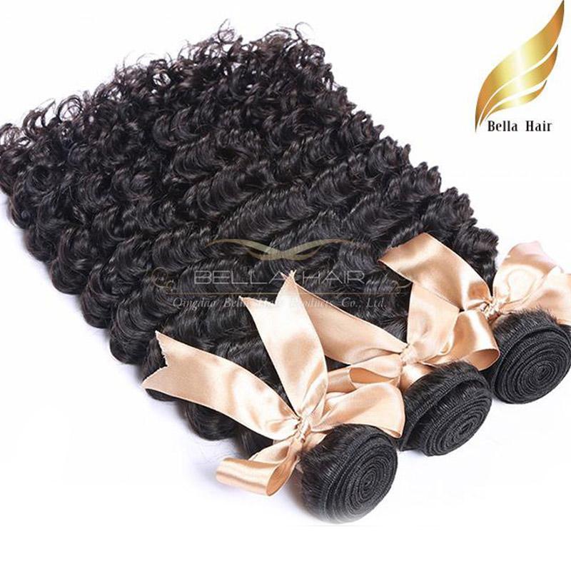 Бразильский глубокая волна человеческих волос расширения Оптовая Реми пучки волос утки 8