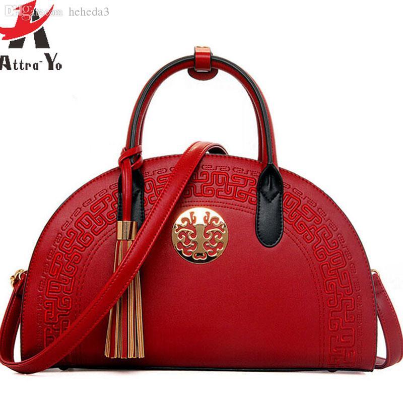 5e3204eaba Famous Brand Women Handbag Women Bag Leather Handbags Messenger Bags  National Style Shoulder Bag Pouch Bolsa LS4733ay Beach Bags Duffle Bags  From Heheda3