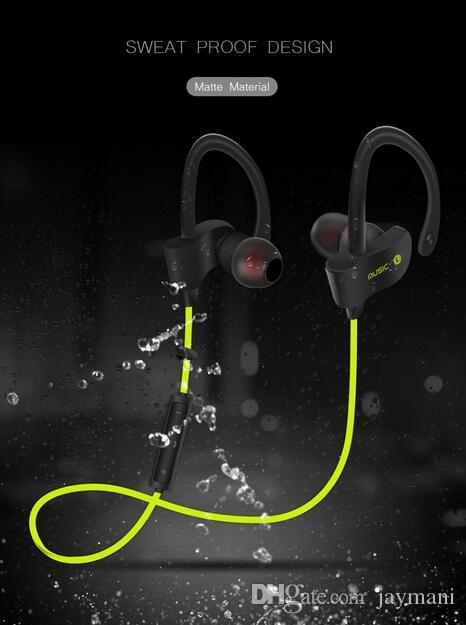 Original Sports Wireless Bluetooth Earphones Stereo Earbuds Headset Bass Headphones with Mic In-Ear for iPhone 6 Samsung Phone
