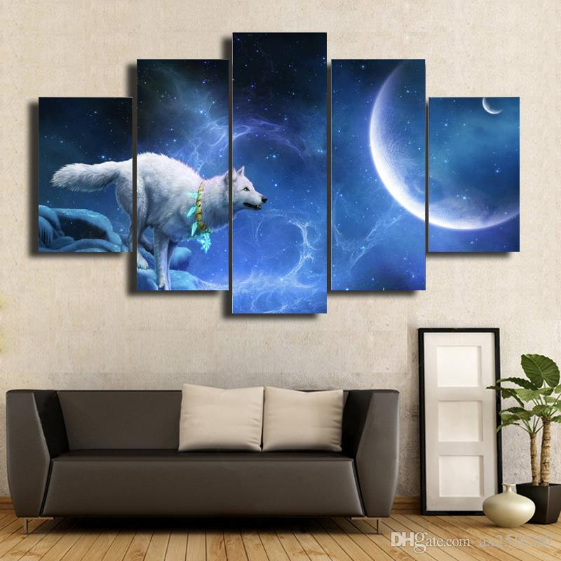 The wolf Canvas Oil Wall Art HD Painting Home Decorative Cheap Art Picture Paint on Canvas Prints DH018