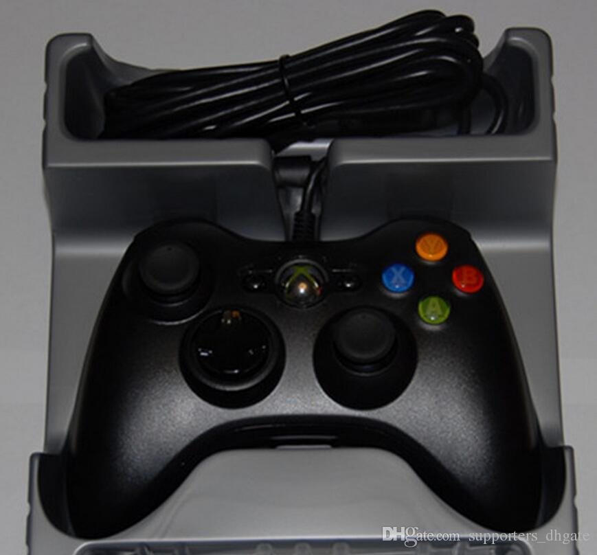 High Quality USB Wired Game xbox 360 Controller Gamepad Joypad Joystick For Xbox 360 Slim Accessory PC Laptop Computer Retail Packaging