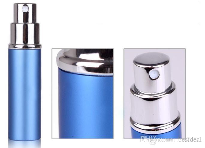 6ml Mini Portable Refillable Perfume Atomizer Colorful Spray Bottle Empty Perfume Bottles Essential Oils Diffusers Home Fragrances