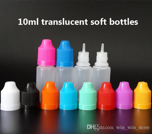 Bottiglie contagocce 3 ml 5 ml 10 ml 15 ml 20 ml 30 ml 50 ml Bottiglie vuote con tappi a prova di bambino e punte lunghe e fini liquido sigaretta elettronica